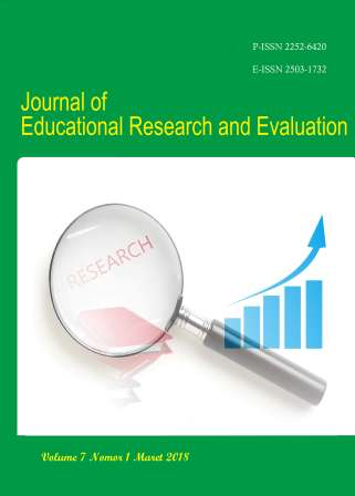 Journal of Educational Research and Evaluation (Penelitian dan Evaluasi Pendidikan)
